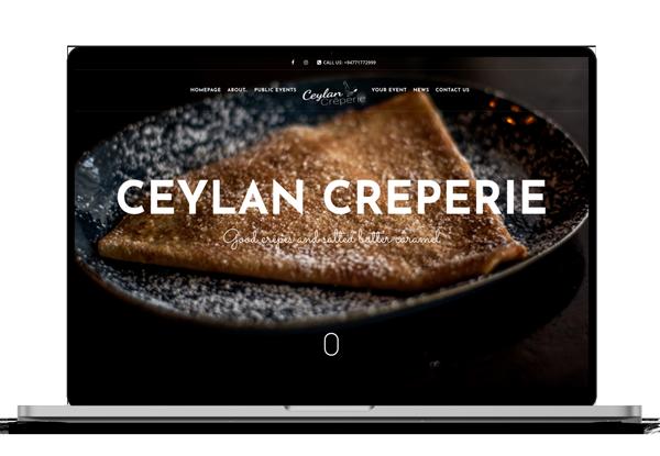 Site web Ceylan Crêperie