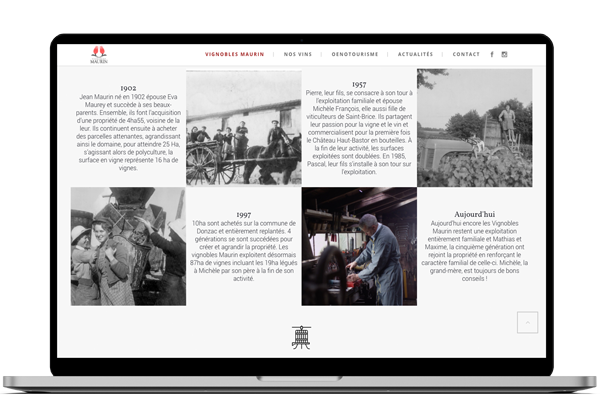 Vignobles Maurin, site web