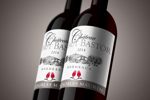 Château Haut Bastor - étiquette bouteille de vin